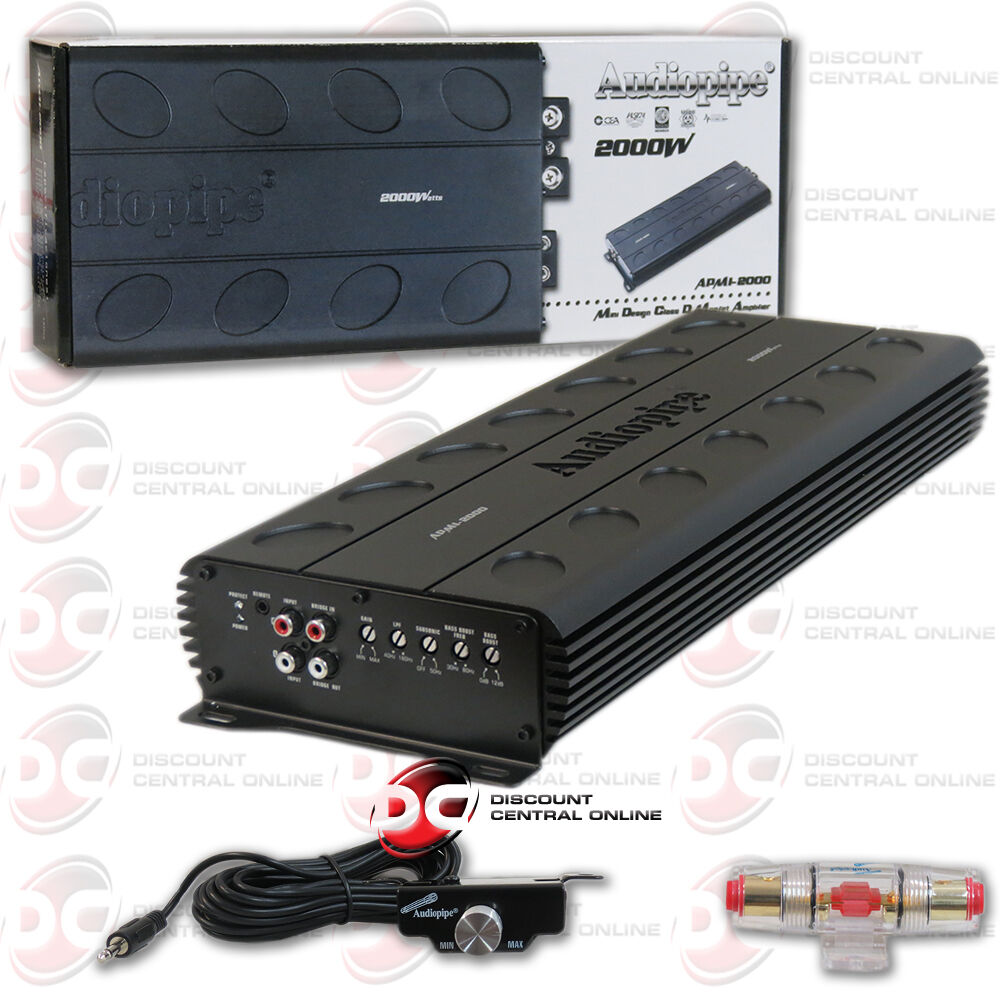 s l1600 audiopipe apmi2000 2000 watt monoblock class d car audio amplifier  at readyjetset.co
