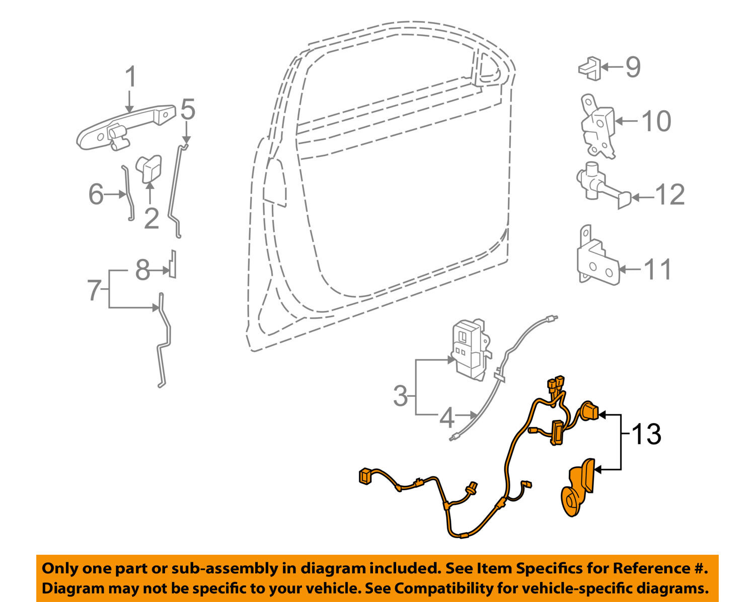 Buick Gm Oem 08 10 Lucerne Front Door Wire Harness Left 20815385 Ebay Factory Wiring Diagram Picture 1 Of 2