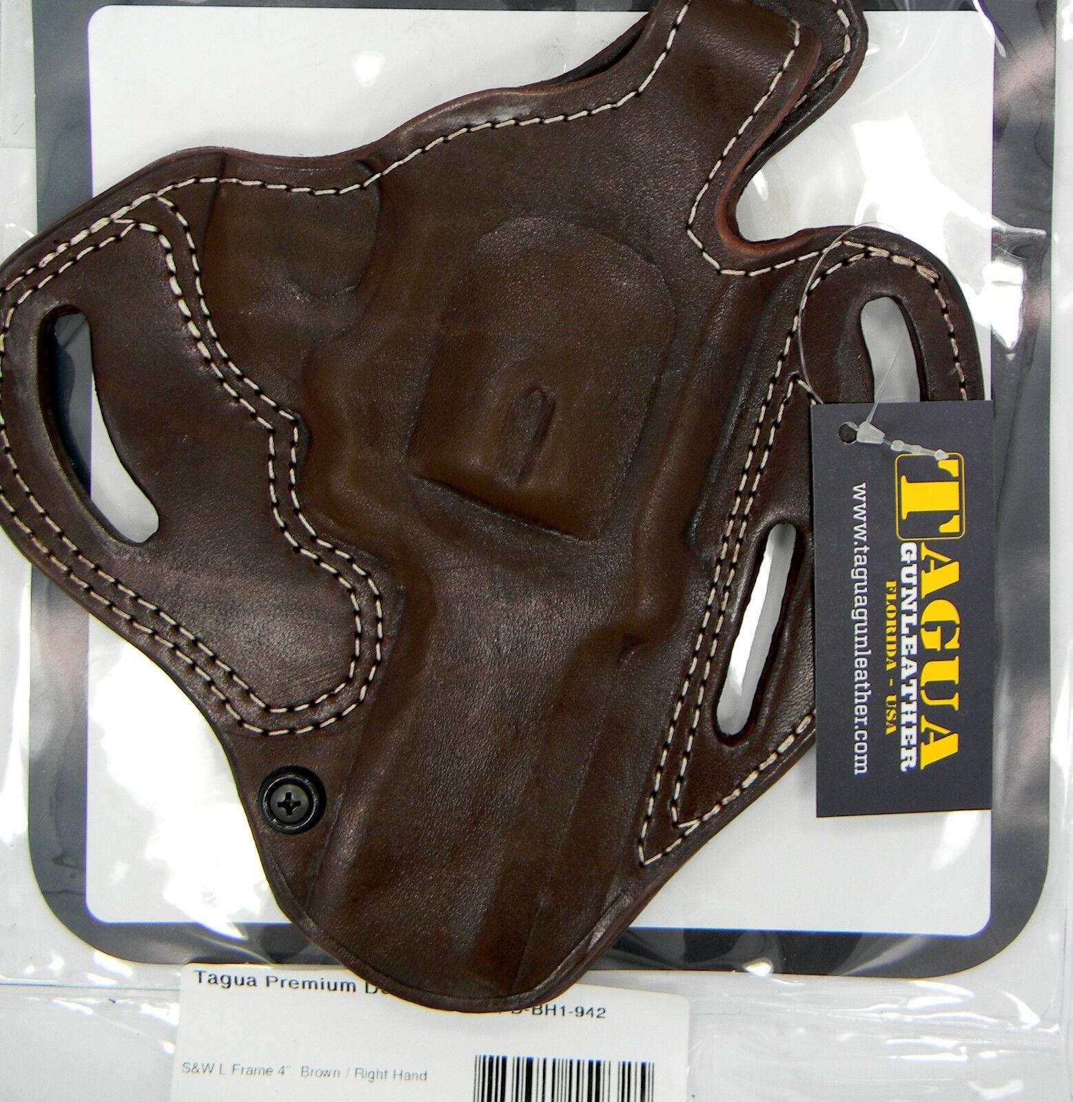 Tagua Premium Brown Leather OWB Thumb Break Belt Holster - S&w L ...