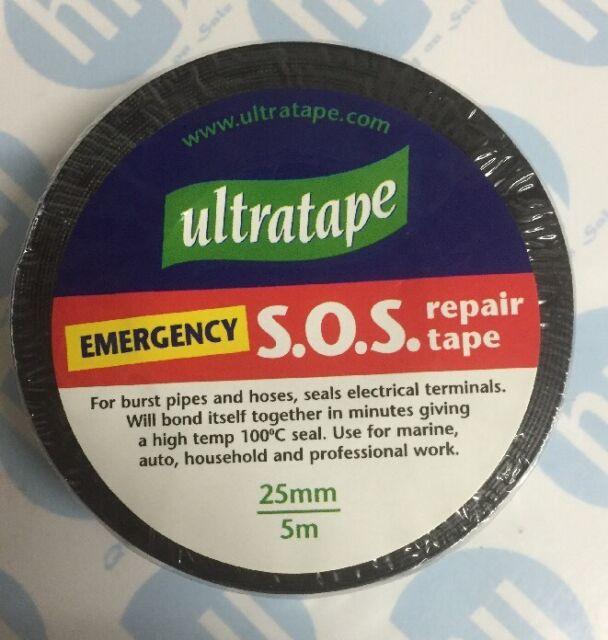 SOS Emergency Pipe Repair Plumbing Bonding Tape Black 25mm
