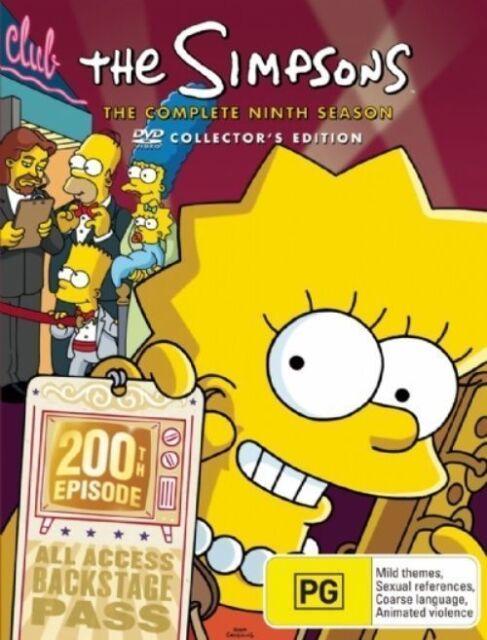 The SIMPSONS: The COMPLETE Season 9 DVD TV SERIES BRAND NEW 4-DISCS BOX SET R4