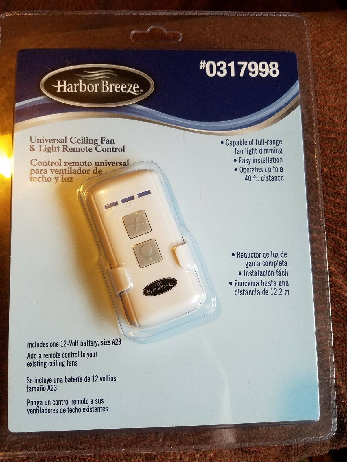 Harbor Breeze Ceiling Fan Remote Control Battery