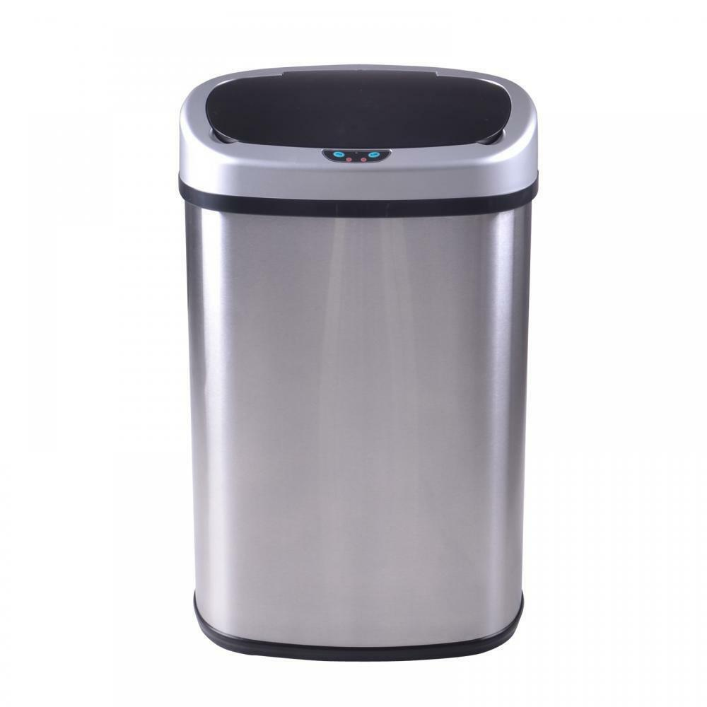 New 13 Gallon Touch Free Sensor Automatic Touchless Trash Can Kitchen Office