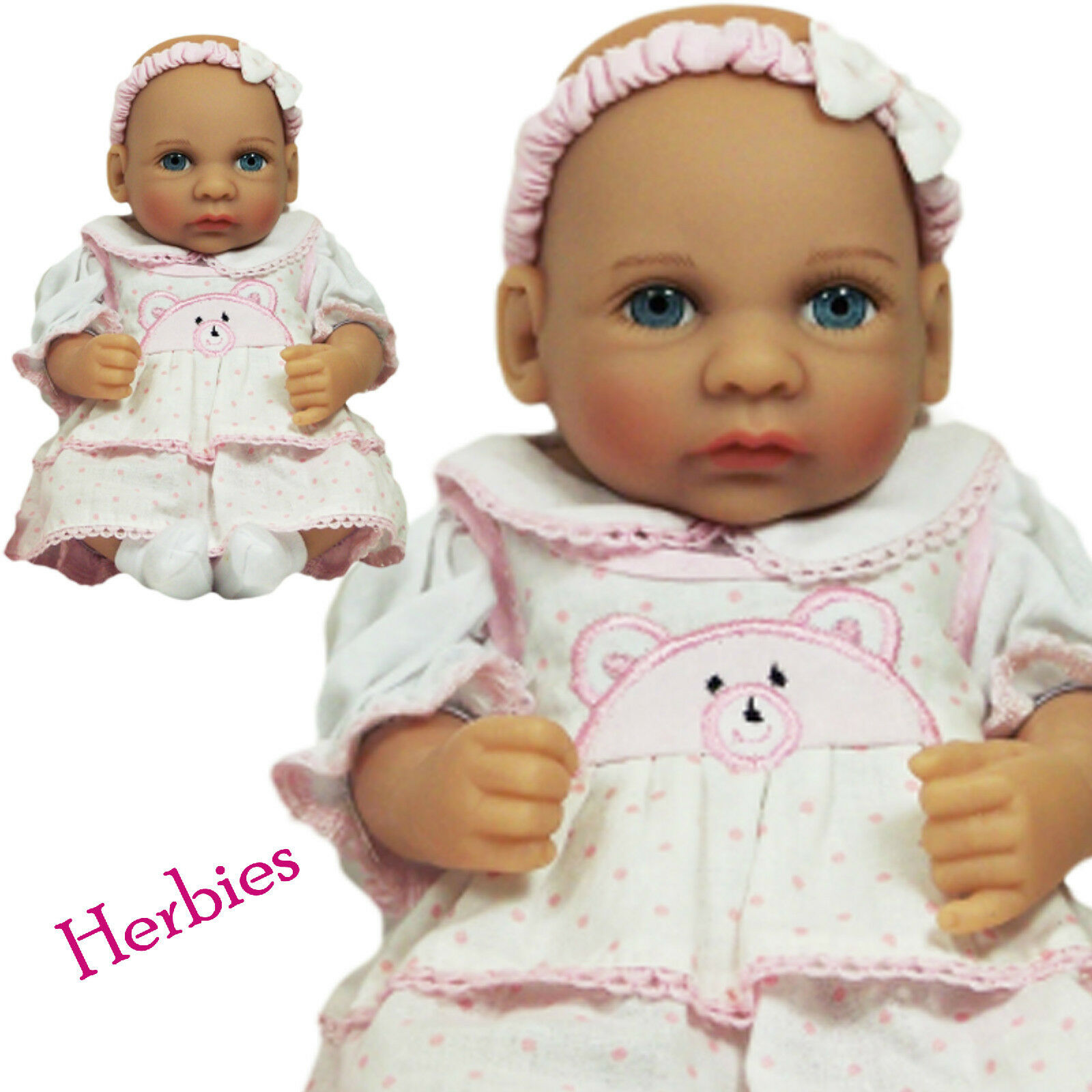 "Molly P Originals Dolls 12"" Julie Vinyl and Cloth Baby Doll With"