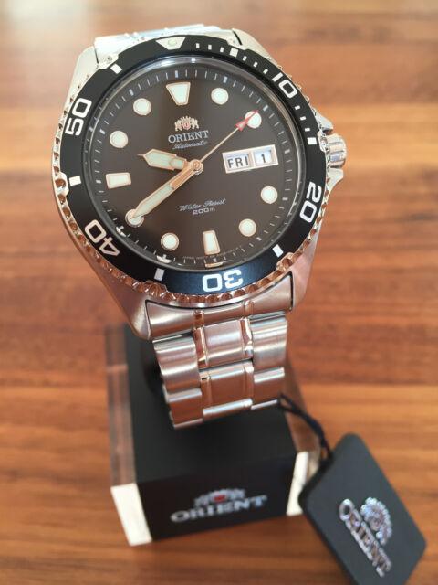 BEST PRICE! Orient Ray II Black FAA02004B9 Automatic Watch Automatik Taucher Uhr
