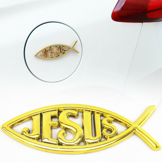3d Car Chrome Decal Emblem Sticker Religious God Jesus Christian