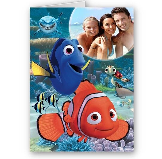 Personalised Photo Finding Nemo Dory Happy Birthday Christmas A5