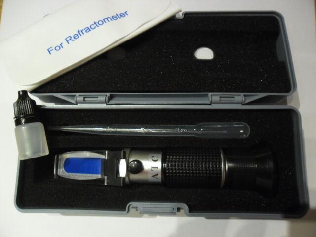 Refraktometer Frostschutz Solaranlage Batterie KFZ mit KALIBRIERFLÜSSIGKEIT