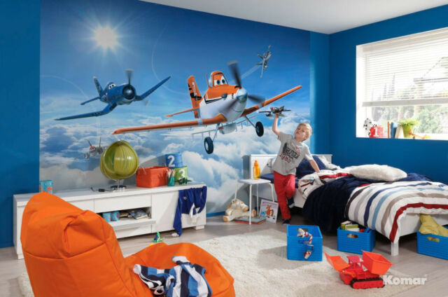 Genial Disney Wall Mural Wallpaper For Boyu0027s Bedroom Poster Style Planes Above  Clouds