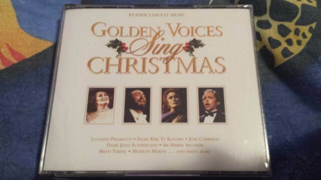 Golden Voices Sing Christmas 3CD Set Pavarotti Sutherland Carreras NEW SEALED