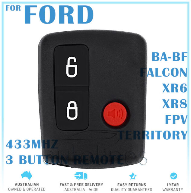 Ford 3 Button 433MHz Complete Remote Key Territory SX XR6 XR8 Falcon BA BF FPV
