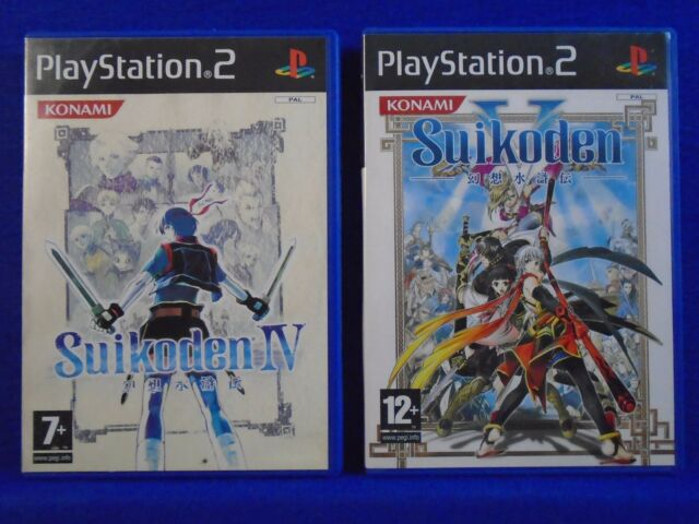 ps2 SUIKODEN x2 Games IV 4 + V 5 Epic RPG Adventures Playstation PAL UK Versions