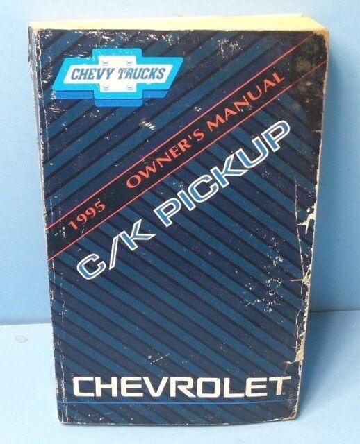 1995 chevrolet c k pickup owners manual ebay rh ebay com