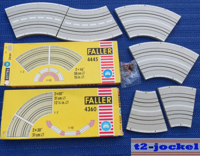 FALLER AMS 4445 +4360 2 X Curve 45°, 2 x 30° and 2 x 60°