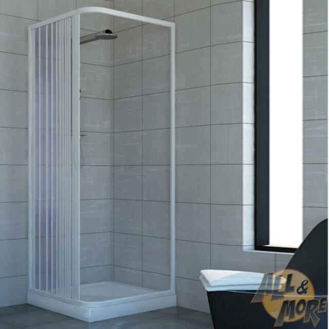 Shower Enclosure Plastic PVC Side Opening Walk in Quadrant Cubicle ...