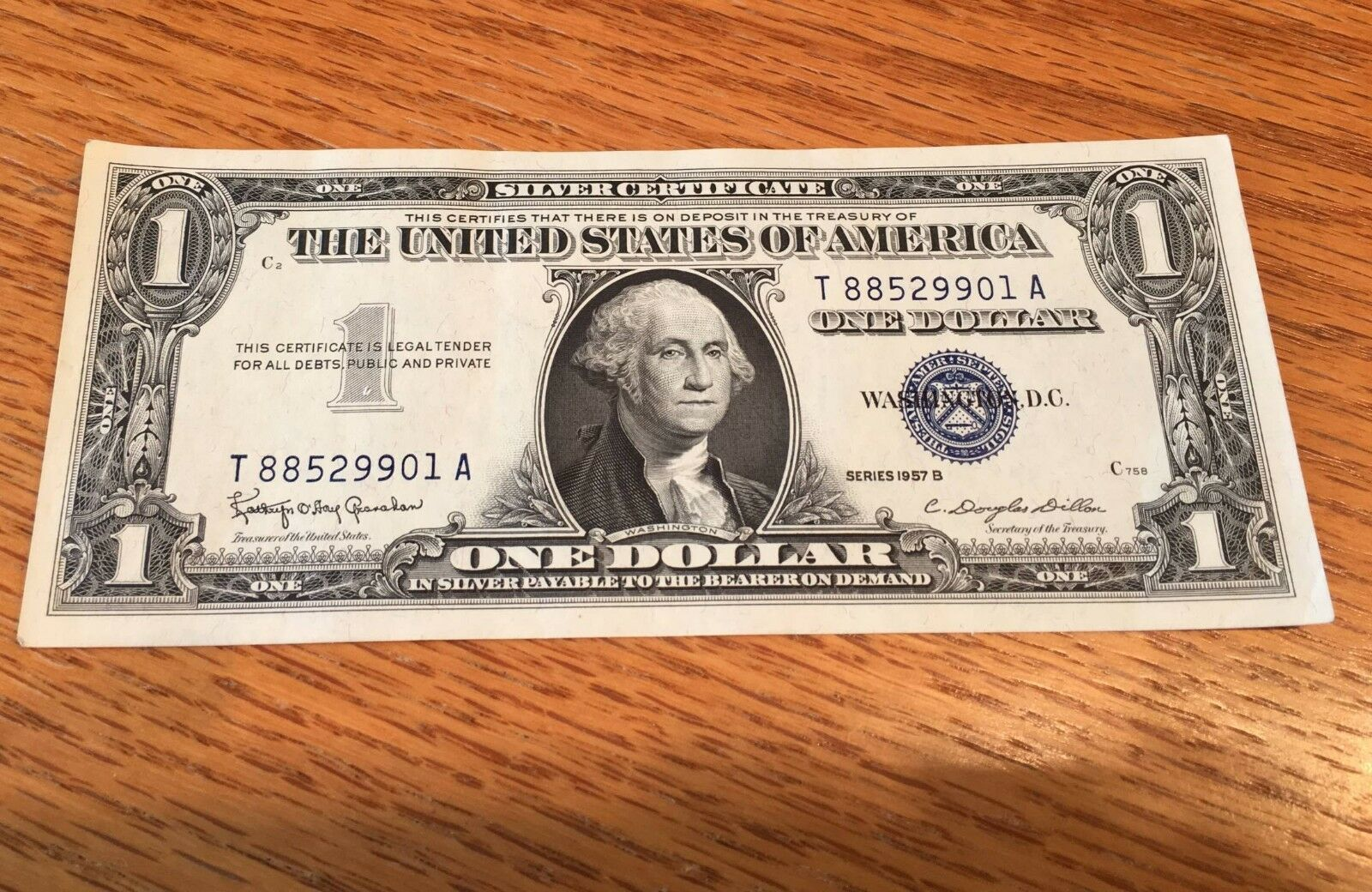 1957 b silver certificate dollar bill consecutive fresh crisp picture 1 of 6 xflitez Images