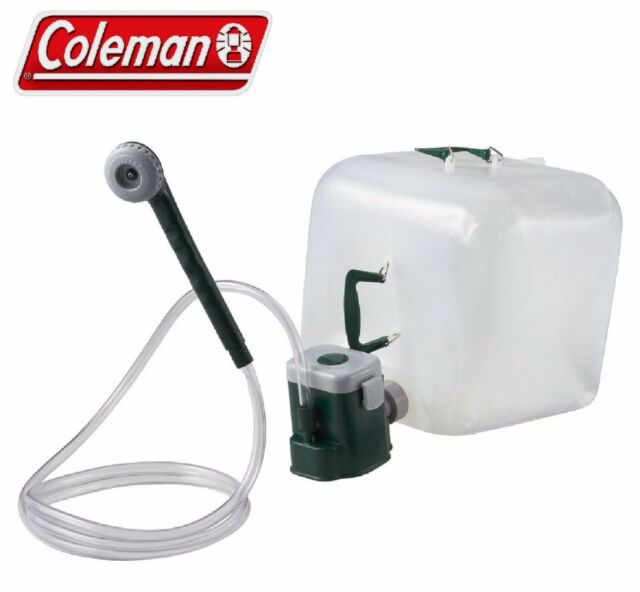 Coleman Portable Shower : Coleman portable shower water carrier kit with motor pump