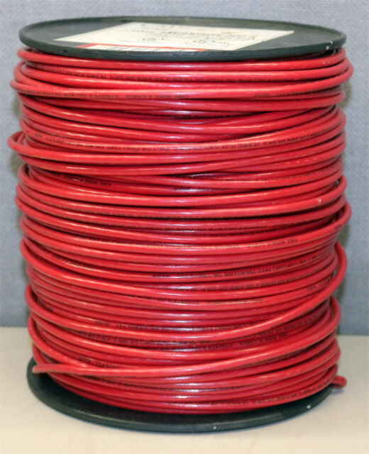 CME Wire Cable 10awg Stranded Machine Tool Red 500\' Feet C 10 THHN ...