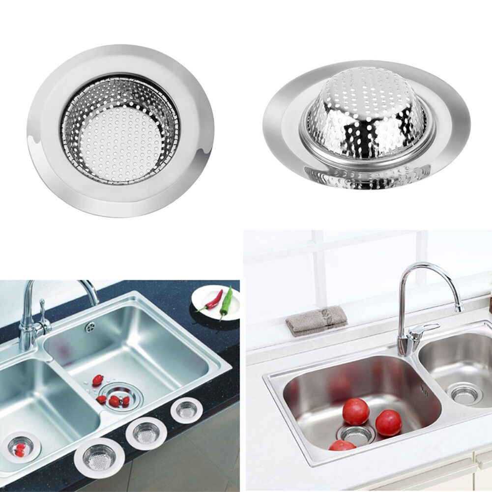 2x stainless steel kitchen sink strainer waste plug drain stopper picture 1 of 6 workwithnaturefo