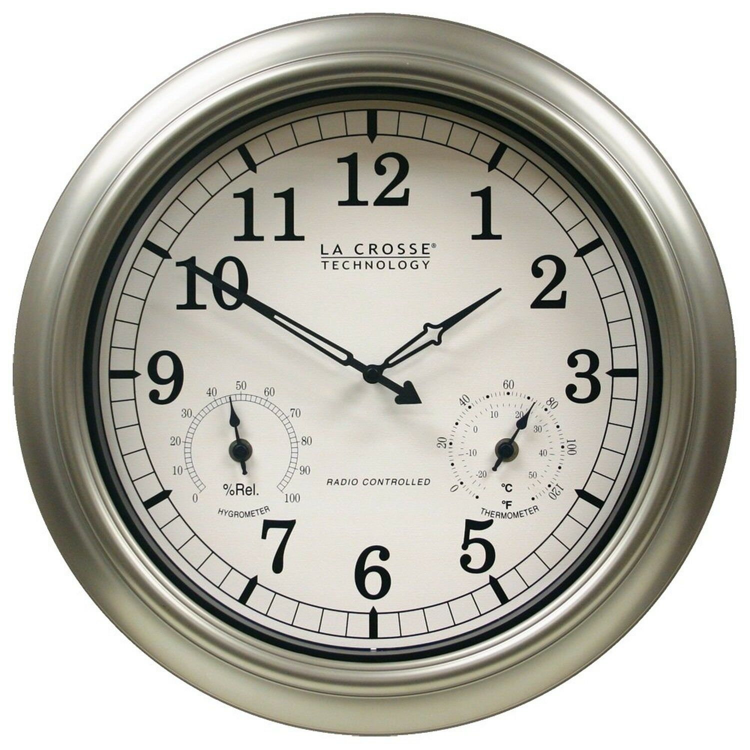 La crosse technology wt 3181pl int 18 inch atomic outdoor clock picture 1 of 5 amipublicfo Gallery
