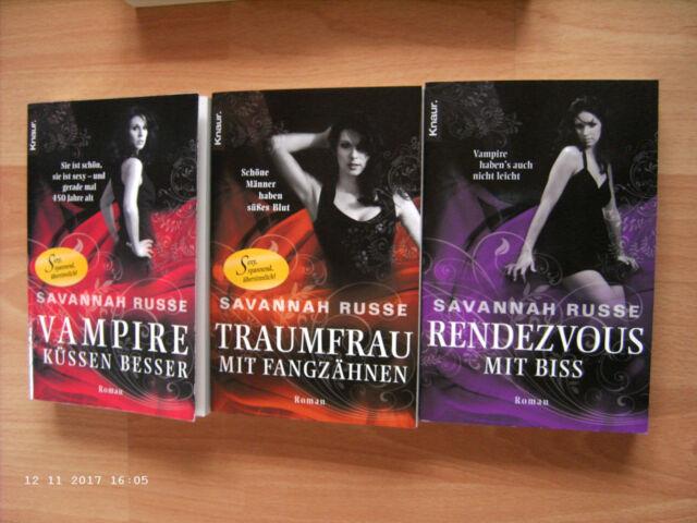 3x Savannah Russe: Vampire küssen besser, Traumfrau mit Fangzähnen, Rendezvous..