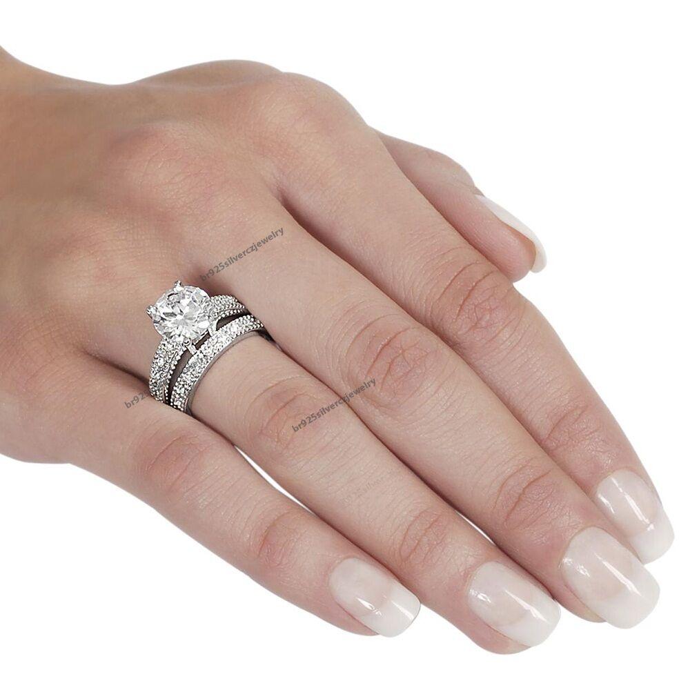 Round Diamond 10k Ladies White Gold Channel Bridal Wedding ...