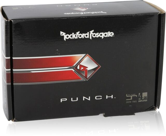 Rockford Fosgate PBR300X4 300 Watts Punch Series  4-Channel Car Amplifier