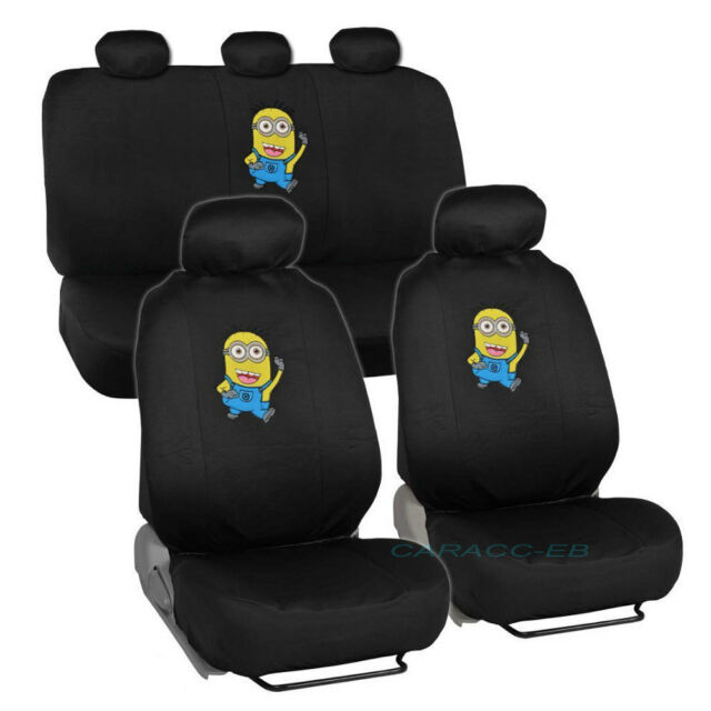 Brand New Despicable Me Minions Front And Back Car Seat Covers Full Set