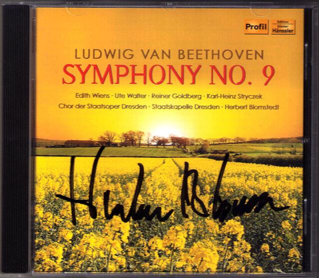 Herbert BLOMSTEDT Signed BEETHOVEN Symphony No.9 Edith Wiens Reiner Goldberg CD