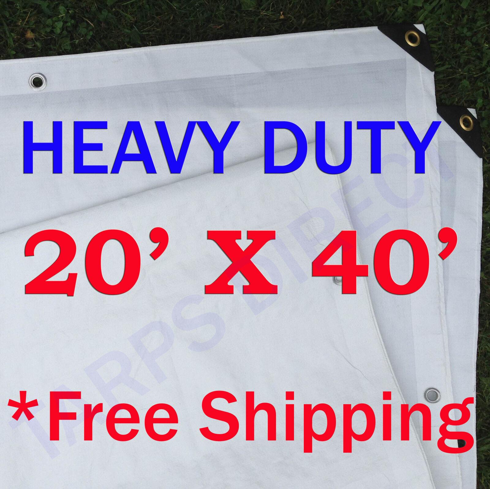Picture 1 of 1  sc 1 st  eBay & Harpster Tarps T2040W 20u0027 X 40u0027 Heavy Duty White Tarp 6 Oz. | eBay