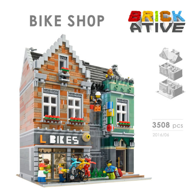 Lego Custom Modular Building Bike Shop Instructions Only Instruction ...