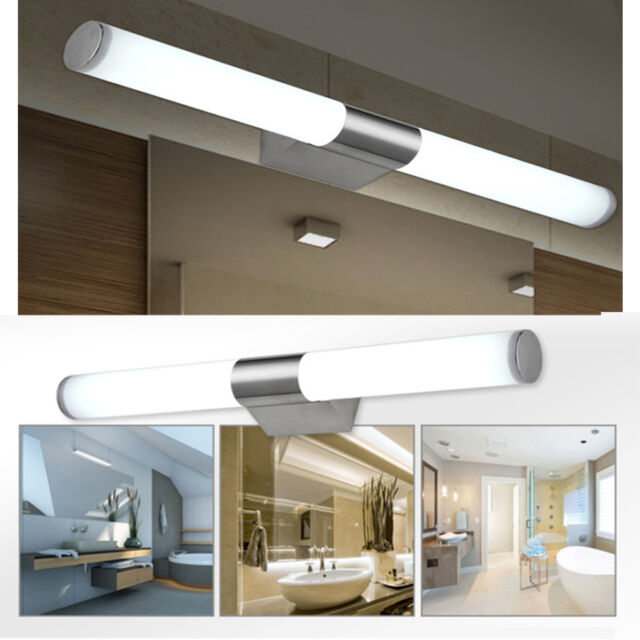 Fuloon led modern brief tube make up lighting wall light bathroom modern bathroom mirror lights led brief tube wall light make up lighting fixture aloadofball