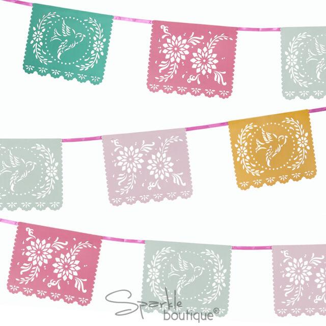 FLORAL FIESTA MEXICANA BUNTING - Summer Garden Party/BBQ/Luau Decoration/Banner