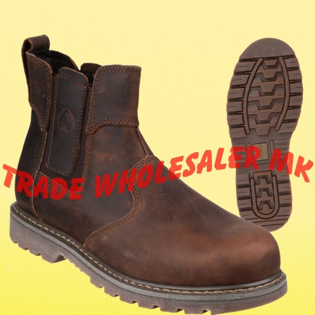 Safety Steel Tan Amblers Size Footwear 15 Lined On Slip SfUUO6WdqI