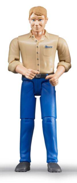Bruder 60006 Mann mit hellem Hauttyp / blauer Hose