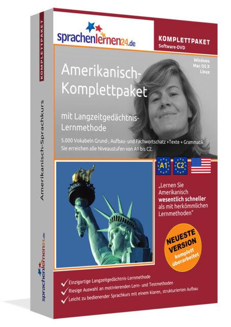 Amerikanisch lernen von A bis Z - Multi-Sprachkurs-DVD plus Smartphone-Version