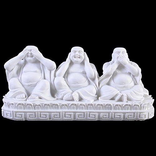 Jones Home and Gift See, Speak, Hear No Evil Buddhas, Multi-Colour