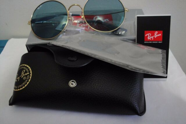 ray ban aviator 55 gold blau