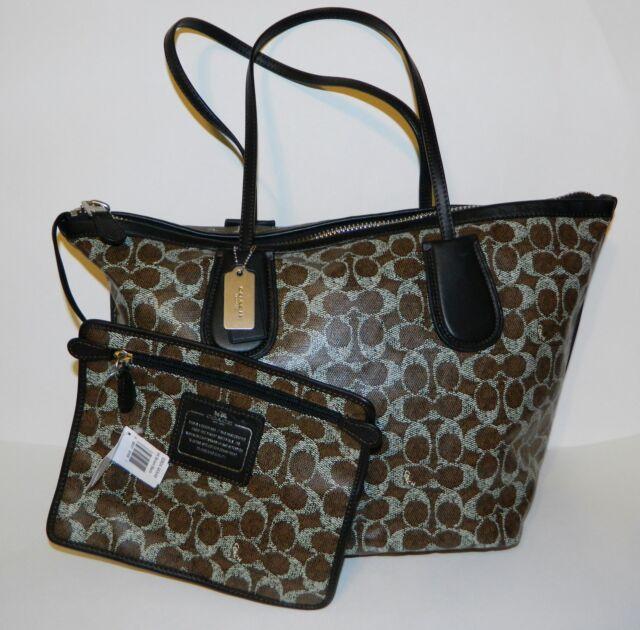 ... black 2f95b aacdb top quality coach f33504 signature taxi zip top tote  shoulder bag nwt 00290 2d774 ... a8e25cde03dbe
