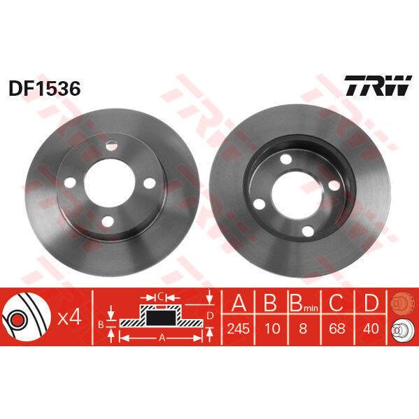 Bremsscheibe, 1 Stück TRW DF1536