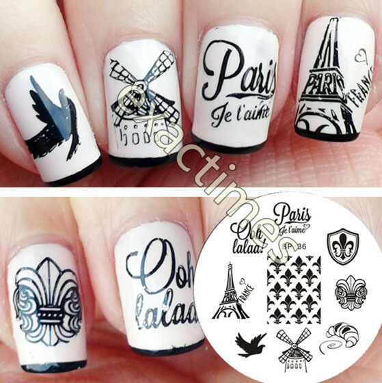 Born Pretty Nail Art Stamping Template Image Plate France Theme Bp36 ...