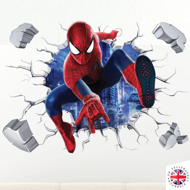 3d Spiderman Wall Sticker Vinyl Art Home Bedroom Marvel