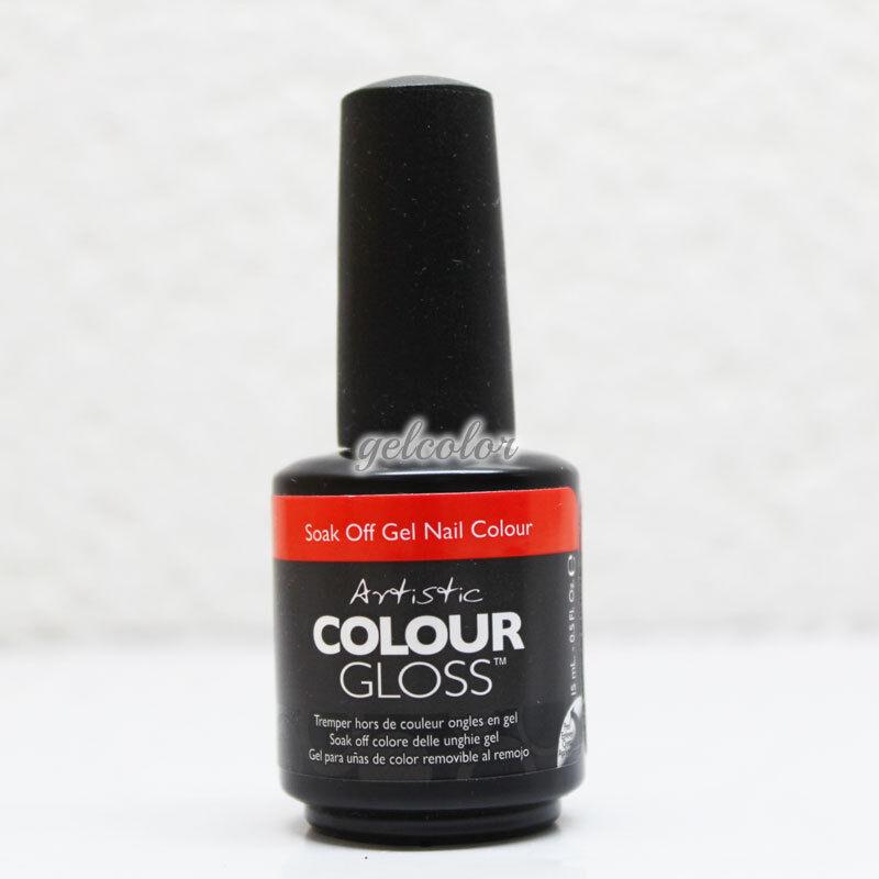 Artistic Nail Design Soak Off Colour Gloss Gel Coral Orange Polish