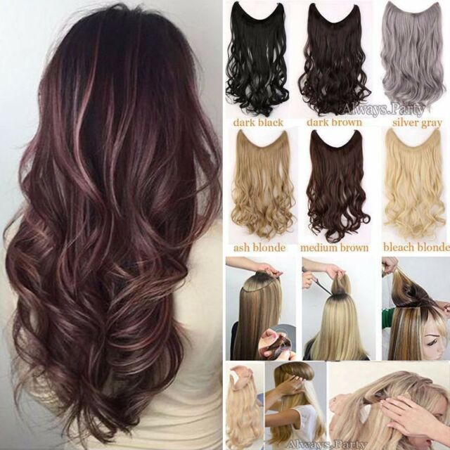 Headband Secret Wire In Hair Extensions Invisible Brown Real As Human hair kcvhn