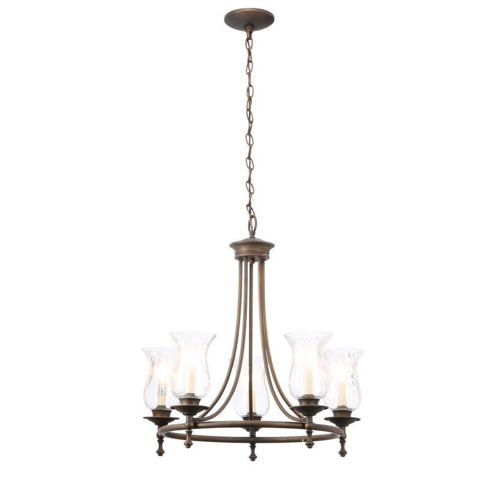 Hampton bay 515073 grace 5 light chandelier fixture bronze 443366 picture 1 of 5 aloadofball Choice Image