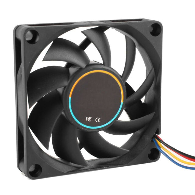 70mmx15mm 12V 4 Pins PWM PC Computer Case CPU Cooler Cooling Fan Black E9F7 S5Y8
