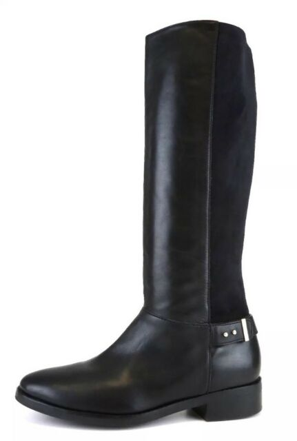 Cole Haan Adler Leather Black Riding Boots 6732 Size 8B *