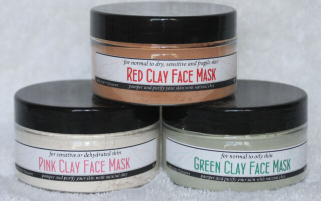 Clay Face Mask - Green/Red/Pink - Pamper & Purify Your Skin