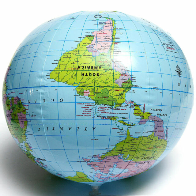 pvc inflatable blow up world globe 40cm earth atlas ball map geography toytutord