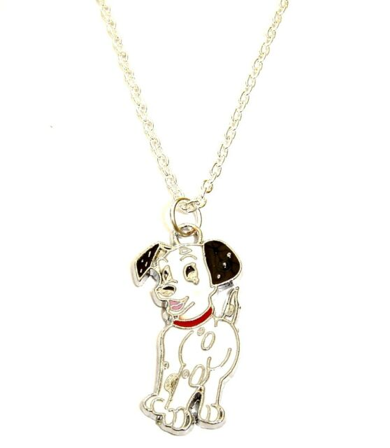 101 dalmatians dog charm pendant necklace in gift bag dalmation 101 dalmatians dog charm pendant necklace in gift bag dalmation puppy cute mozeypictures Gallery